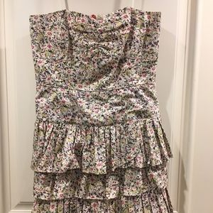 J. Crew Summer Strapless Dress
